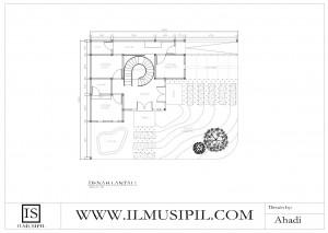 gambar desain denah rumah lantai 1